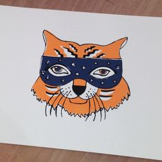I've been looking back at some older work this week in my portfolio. This masked tiger was my first attempt at screen printing. It's a good few years old now, but I still quite like it, mis-registration and all. What do you think? My Portfolio, Looking Back, Screen Printing, Thinking Of You, Prints, Instagram, Screen Printing Press, Thinking About You, Silk Screen Printing
