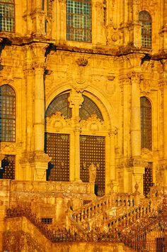 Santiago de Compostela, Galicia, España. Detalle del pórtico