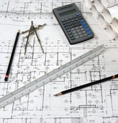 Construction blueprints: engineering and architecture drawings with calculator School Of Engineering, Engineering Colleges, Civil Engineering, Engineering Humor, Mechanical Engineering, Architecture Drawings, School Architecture, Architecture Design, Custom Home Builders