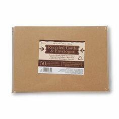 Amazon.com: Darice® 5 x 7 Blank Cards & Envelopes - Value Pack - 50 Count - Natural: Arts, Crafts & Sewing