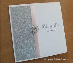 Glitter Wedding Invitation. Silver wedding by BubblyWeddings
