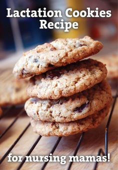 Lactation Cookies Recipe for Nursing Mamas from Mama Say Waht?! A few extra ingredients go into these cookies to help a nursing mama produce more milk!