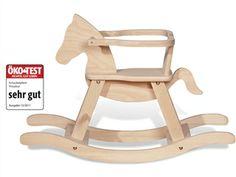 """Pinolino Holz Schaukelpferd """"Maxi"""", Buche massiv (L 86 B 31 H 58 cm) - ÖKO-Test Magazin 12/2011: """"sehr gut"""""""