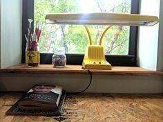 Retro desk lamp $30 #midcentury #retro #yellow #lighting #lamp #vintage