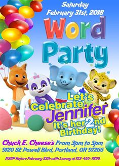 Message To Order My Niece Loves Word Party On Netflix So