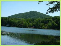 Stissing Mountain fire tower and Stissing Lake  Pine Plains NY