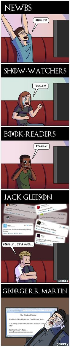 Dorkly Comic: How People Reacted to Last Night's 'Game of Thrones' [SPOILERS!]