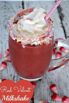 Red Velvet Heart Milkshake!