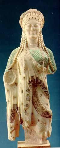 Chios Kore, Greek Archaic Period, 510 BCE, Marble.