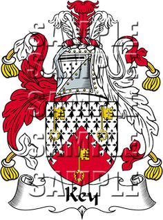 Key Family Crest apparel, Key Coat of Arms gifts
