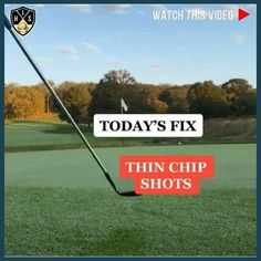 Try out this simple drill to stop thinning chip shots around the green and lower your scores. Golf Wedges, Golf Books, Golf Chipping Tips, Golf Score, Best Golf Courses, Golf Instruction, Golf Putting, Golf Exercises, Golf Training