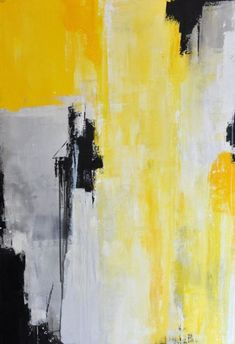Top grey and yellow wall art canvases ideas Abstract Landscape Painting, Abstract Canvas, Abstract Watercolor, Yellow Wall Art, Yellow Painting, Light Painting, Watercolor Painting Techniques, Oil Painting On Canvas, Les Oeuvres