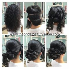 Frisuren Hochsteckfrisur Easy Diy Chignons Ideen Source by Medium Hair Styles, Curly Hair Styles, Natural Hair Styles, Curly Hair Dos, Updo Styles, Diy Wedding Hair, Bridal Hair, Fancy Hairstyles, Wedding Hairstyles