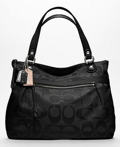 COACH POPPY METALLIC SIGNATURE SATEEN GLAM - Coach Handbags - Handbags  Accessories - Macys