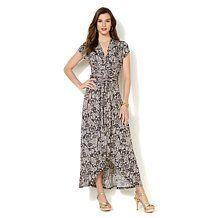 IMAN Global Chic Luxury Resort Perfect Print Maxi Dress
