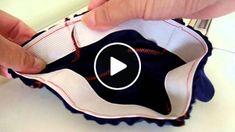 Como costurar elástico em calça ou saia com cós sem separá-lo. Aula 79