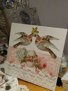 Shabby chic / vintage Handmade Easter card by *Studio Beaudelairefleur* Using Tilda All That Is Spring 2014 elements