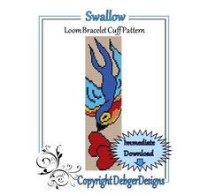 Swallow+Loom+Bracelet+Cuff+Pattern+by+LoomTomb+on+Etsy,+$4.50