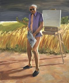 "Eric Fischl, ""Portrait of the Artist as an Old Man"" (1984) 
