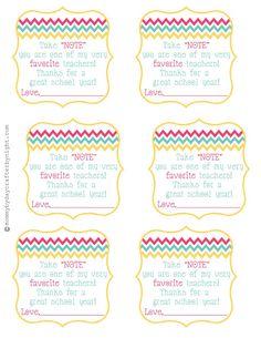 Teacher gift idea + free printable {Teacher Appreciation} | Skip To My Lou