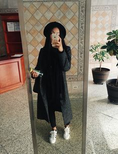 "Ig: @rvswk Hat: Urban Outfitters Coat: Zara Jeans: Gap Denim Shoes: Superstars / Adidas Originals "" http://dizzlefizzle16.tumblr.com"