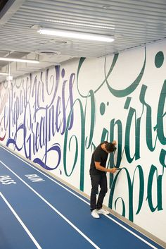 130ft PanAm Games Mural / ben johnston