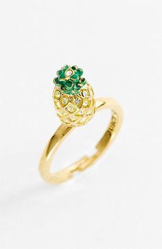$27.90 Juicy Couture 'Creatures of Paradise - Mini Wish' Pineapple Ring available at Nordstrom #meencantalapina