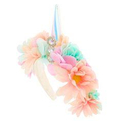 Light Up Unicorn Flower Crown Headband, Rose Pastel, Pastel Flowers, Lilac Flowers, Flower Crown Headband, Unicorn Headband, Flower Crowns, Black Cherry Nails, Light Up Unicorn, Cute Headbands