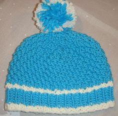 Mütze Perlmuster blau
