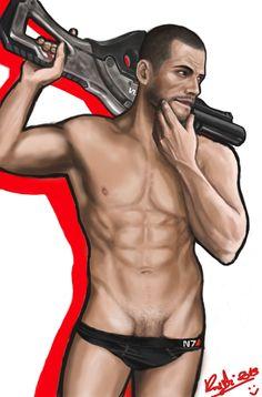 Damn Kaidan...! by Rhapsody4u.deviantart.com on @deviantART #NSFW (PS - I don't understand the Kaidan thing....it's clearly Shepard....)