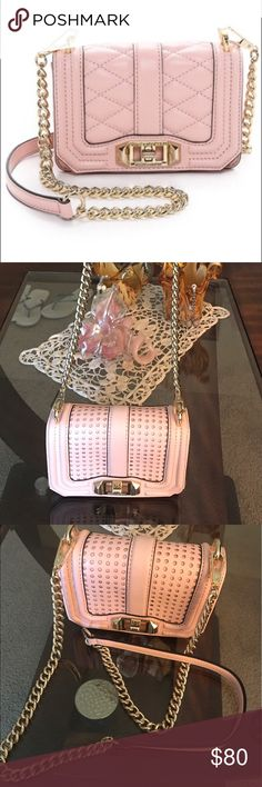 Rebecca Minkoff Mini Love Crossbody- Soft Blush Super cute mini bag in soft blush. Lightly used and in a good condition. Some wear on the back (shown in pic). Rebecca Minkoff Bags Crossbody Bags