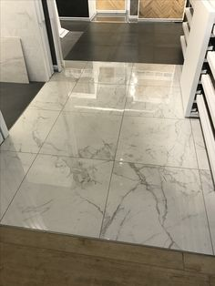 Entryway Style Septic System Design Secrets First and foremost, hire a good septic designer to do th Marble Floor Kitchen, Marble Look Tile, Kitchen Flooring, Floor Design, Ceiling Design, Tile Design, House Design, Home Entrance Decor, House Entrance