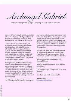 Archangel Gabriel and His Qualities/Attributes - Guardian of the Element of Water Archangel Prayers, Angel Quotes, I Believe In Angels, Angel Numbers, Angel Cards, Guardian Angels, Spirit Guides, Celestial, Inspirational Quotes