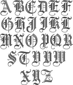 Ideas Tattoo Fonts Letters Alphabet Initials For 2019 Alphabet Cursif, Tattoo Fonts Alphabet, Calligraphy Fonts Alphabet, Tattoo Lettering Fonts, Graffiti Lettering, Hand Lettering, Letter A Tattoo, Letter Fonts, Cool Tattoo Fonts
