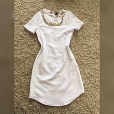 New white Bodycon  New with tag, comes with necklace ) NOT ZARA BRAND, offers accepted Zara Dresses Mini