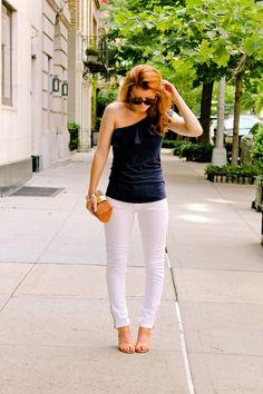 @MacKenzie Horan {Design Darling} brunching in our Morely Top & Worth Skinny Jeans