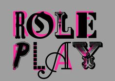 Roleplay typography
