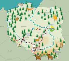 ..Poland.. from World Map (In Progress) by Anna Dyczka, via Behance
