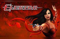 play the Elektra Slot Panda Online, Wild Panda, Ninja Sword, Female Hero, Comic Drawing, Game Logo, Daredevil, Slot Machine, Spin