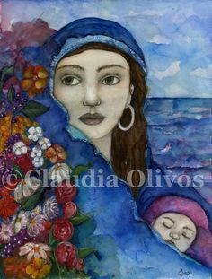 Goddess Eiren was the Greek peace Goddess and also the patroness of wealth and prosperity. Reproductions on canvas available in several sizes.