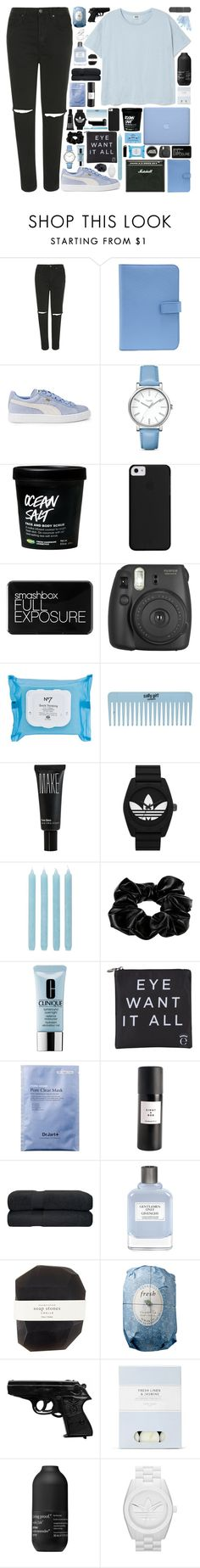 """""""A YOUNG MAN"""" by doubting ❤ liked on Polyvore featuring Topshop, Smythson, Puma, Timex, Smashbox, CASSETTE, Boots No7, Make, adidas Originals and Pier 1 Imports"""