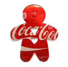Red Coca Cola  GINGERBREAD MAN Magnet or by PopCanCreations