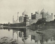 An Unconventional View of the Taj. India Illustrated. Ca. 1905. Taj Mahal (Agra, India).   Special Collections, University of Houston Libraries (Public Domain).
