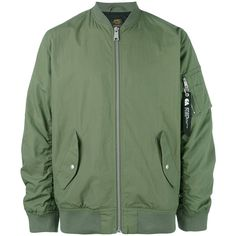 Carhartt bomber jacket ($154) ❤ liked on Polyvore featuring men's fashion, men's clothing, men's outerwear, men's jackets, green, mens green jacket, carhartt mens jacket and mens green bomber jacket