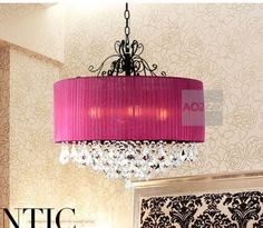 Aliexpress.com : Buy New Modern Crystal Living Room Chain Pendant light Free Shipping Gauze lampshade Crystal Decorated Bedroom Pendant lamp from Reliable pendant crystal lamp suppliers on OUOVO $284.76