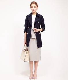 ROPÉ PICNIC(ロペピクニック)|ミドル丈トレンチコート Middle trench coat |NAVY #J'aDoRe JUN ONLINE #J'aDoRe Magazine