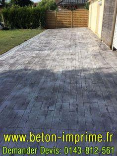 Beton Imprimé Imitation Bois Gris ☎️ 0143-812-561 #beton #bois #gris