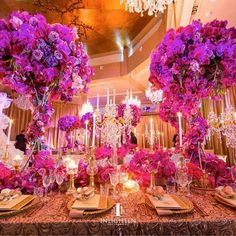 Wedding Planners Color Texture And Light Create A Beautiful Bright Pink Purple Karen Tran Fls