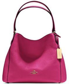 Coach Edie Shoulder Bag 31 In Refined Pebble Leather Handbags On Sale, Coach Handbags, Coach Purses, Purses And Handbags, Leather Handbags, Clearance Handbags, Coach Bags, Mini Handbags, Fashion Handbags