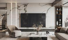 Modern Luxury Bedroom, Luxurious Bedrooms, Luxury Living, Living Room Designs, Living Room Decor, Lcd Panel Design, Tv Wall Design, Modern House Design, Ideal Home